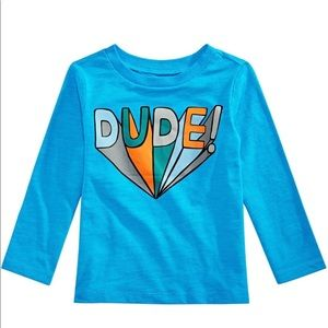 First Impressions Baby Boys Dude Graphic T-Shirt